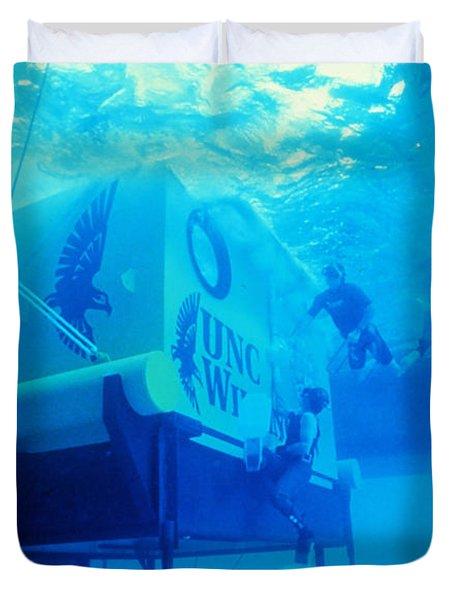 Aquarius Underwater Ocean Laboratory Duvet Cover by Science Source