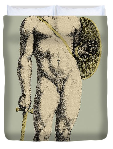 Ares, Greek God Of War Duvet Cover by Photo Researchers