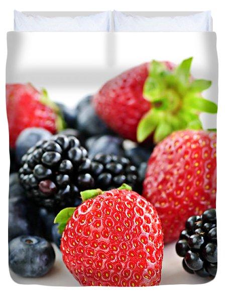 Assorted Fresh Berries Duvet Cover by Elena Elisseeva