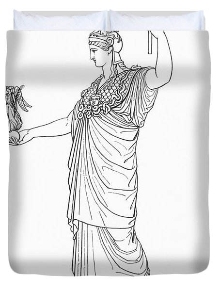 Athena, Greek Goddess Duvet Cover by Photo Researchers