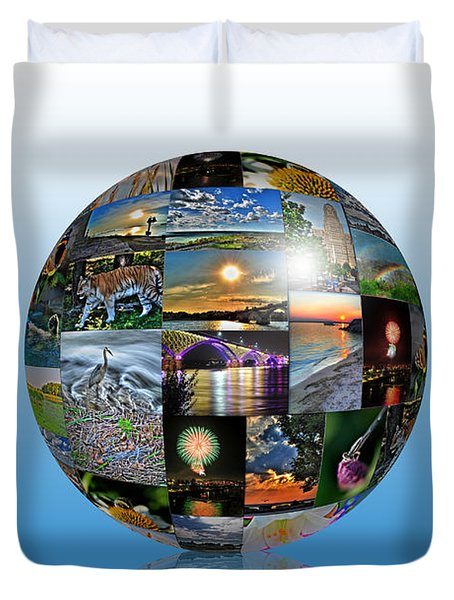 Attractions In Buffalo Ny And Surrounding Areas Duvet Cover by Michael Frank Jr
