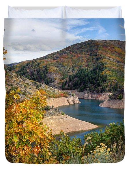 Autumn At Causey Reservoir - Utah Duvet Cover
