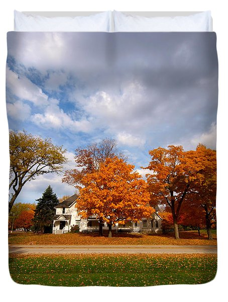 Autumn Is Colorful Duvet Cover by Paul Ge