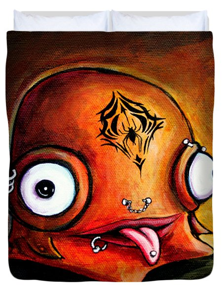 Bad Boy Glob Duvet Cover by Leanne Wilkes