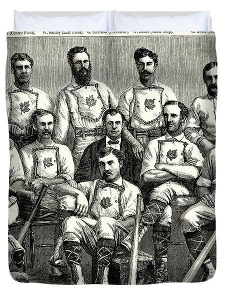 Baseball: Canada, 1874 Duvet Cover by Granger