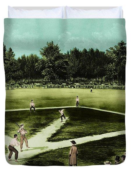 Baseball In 1846 Duvet Cover by Omikron