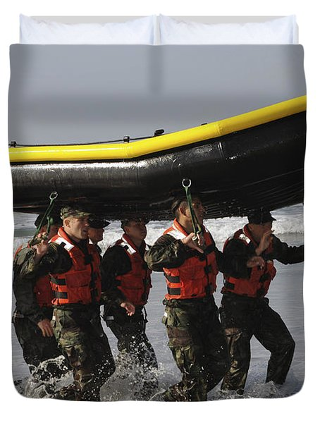 Basic Underwater Demolitionseal Duvet Cover by Stocktrek Images