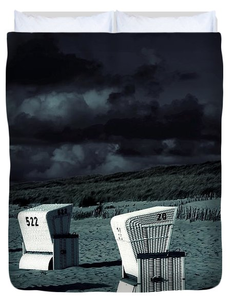 Beach Chairs Duvet Cover by Joana Kruse