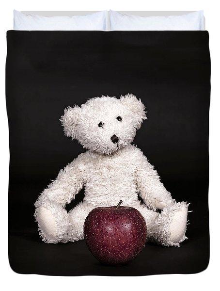 Bear And Apple Duvet Cover by Joana Kruse