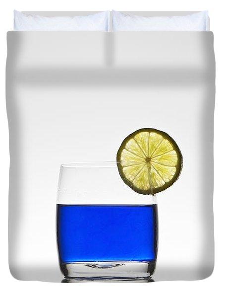 Blue Cocktail With Lemon Duvet Cover by Joana Kruse