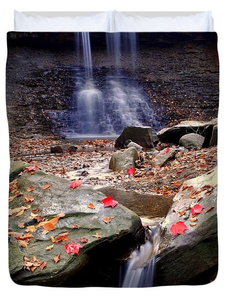 Blue Hen Falls Duvet Cover by Frozen in Time Fine Art Photography