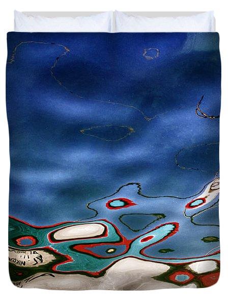 Boat Reflexion Duvet Cover by Stelios Kleanthous