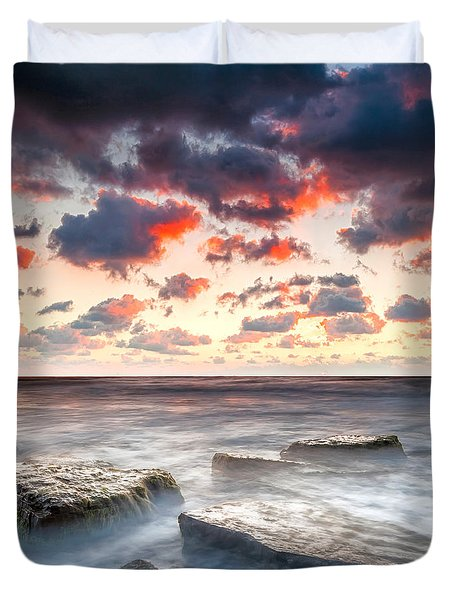 Boiling Sea Duvet Cover by Evgeni Dinev