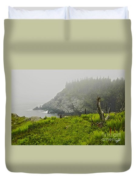 Duvet Cover featuring the photograph Bold Coast by Alana Ranney