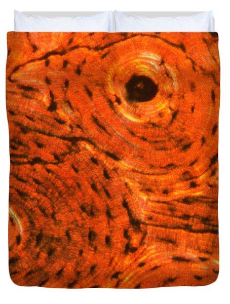 Bone Tissue Duvet Cover