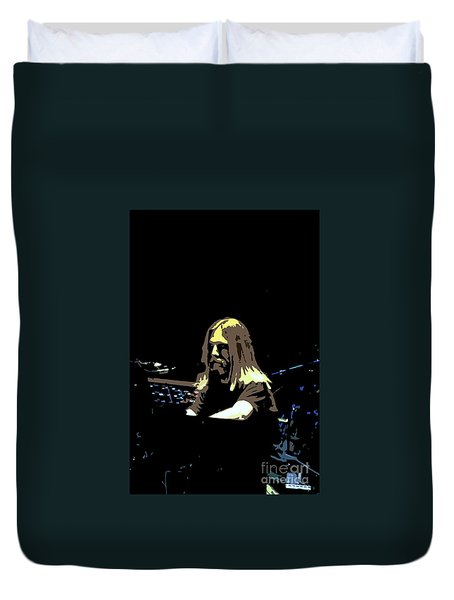 Duvet Cover featuring the photograph Brent Mydland Of The Grateful Dead by Susan Carella