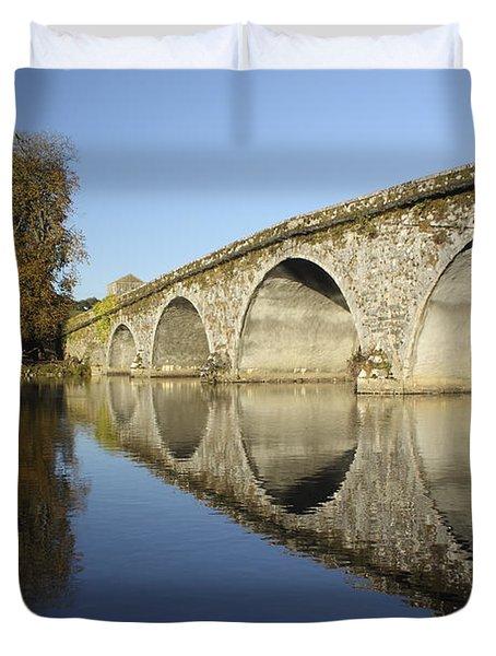 Bridge Over River Nore Bennettsbridge Duvet Cover by Trish Punch