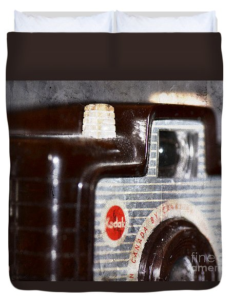 Duvet Cover featuring the photograph Brownie by Traci Cottingham