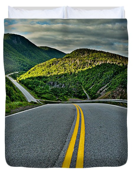 Cabot Trail Duvet Cover by Joe  Ng