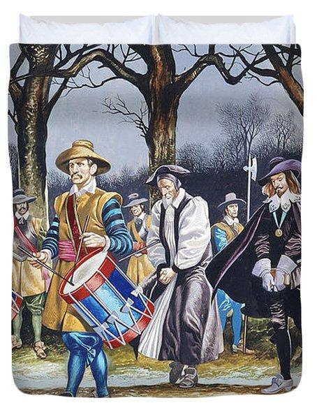 Charles I's Last Walk Duvet Cover by Ron Embleton