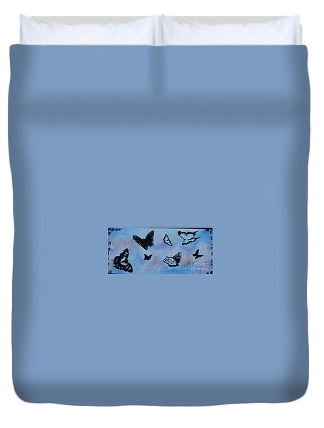 Chasing Butterflies Duvet Cover by Jan Bennicoff