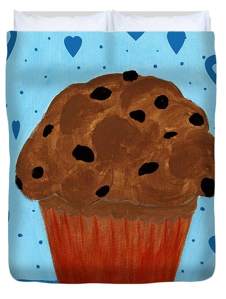 Chocolate Chip Cupcake Duvet Cover by Barbara Griffin