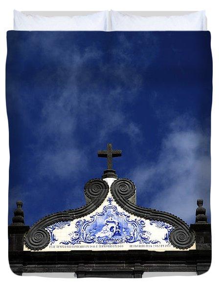 Church In Azores Islands Duvet Cover by Gaspar Avila