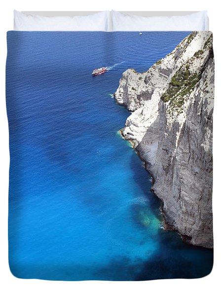 Duvet Cover featuring the photograph Coast by Milena Boeva