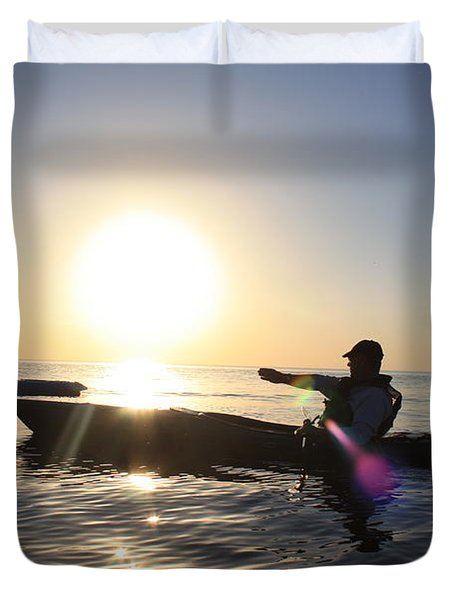 Coasting On Waters Light Duvet Cover