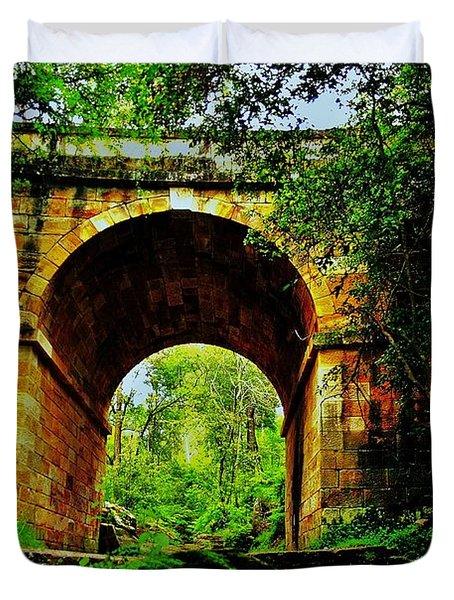 Colonial Era Bridge Duvet Cover