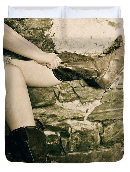 Cowboy Boots Duvet Cover by Joana Kruse