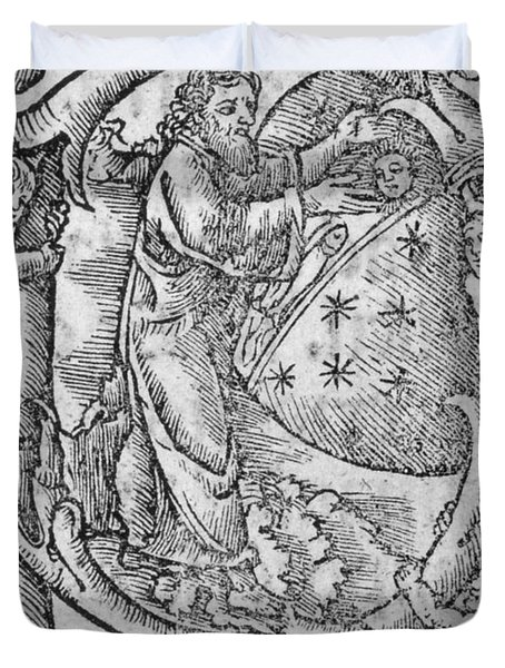 Creation, Giunta Pontificale, 1520 Duvet Cover by Science Source