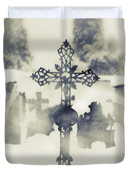 Cross Duvet Cover by Joana Kruse