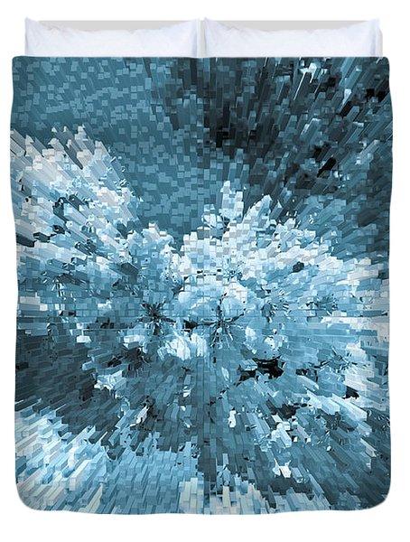 Crystal Flowers Duvet Cover by David Pyatt