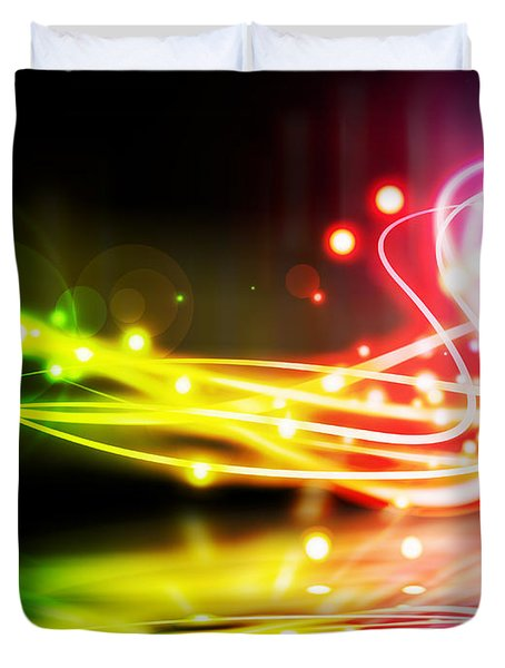 Dancing Lights Duvet Cover by Setsiri Silapasuwanchai