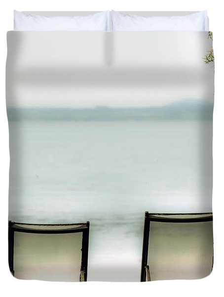 Deck Chairs Duvet Cover by Joana Kruse