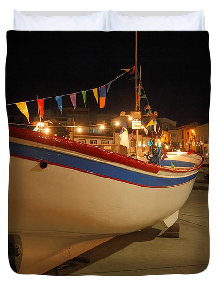 Decorated Fishing Boats Duvet Cover by Gaspar Avila