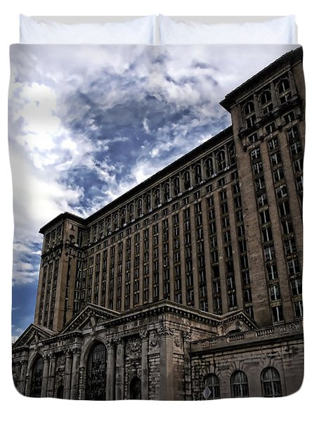 Detroit's Abandoned Michigan Central Station Duvet Cover by Gordon Dean II