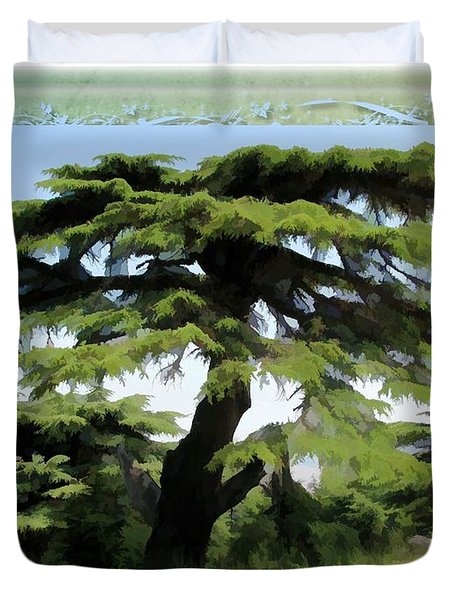 Do-00512 Cedar Forest Duvet Cover