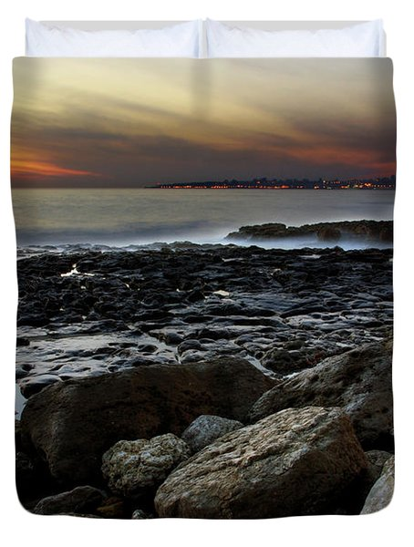 Dramatic Coastline Duvet Cover by Carlos Caetano