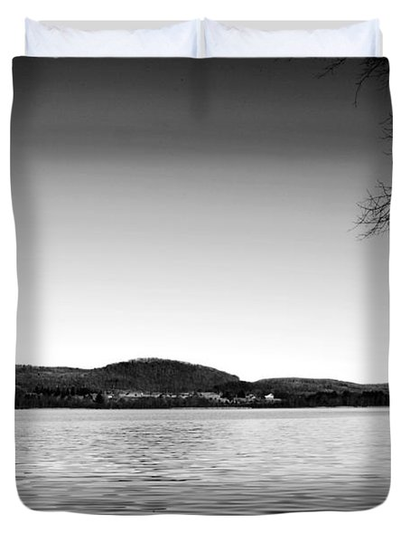 Dryden Lake New York Duvet Cover by Paul Ge