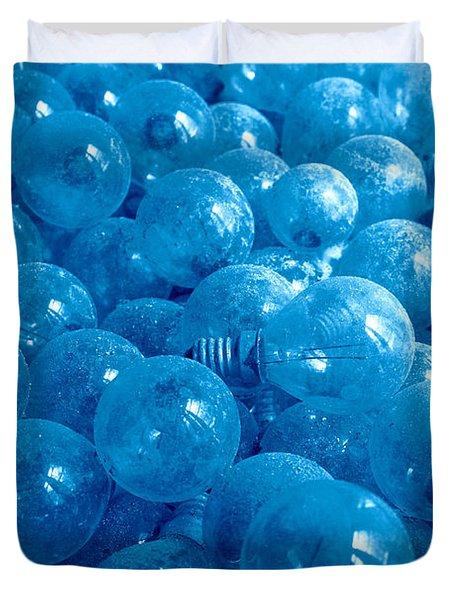 Dusty Light Bulbs Duvet Cover by Gaspar Avila