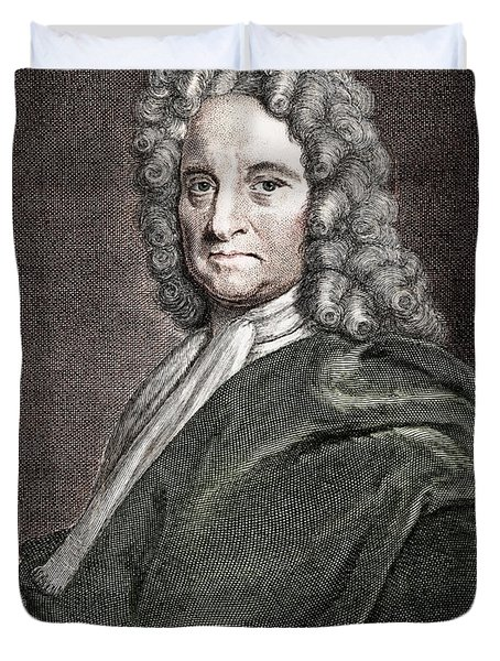 Edmond Halley, English Polymath Duvet Cover by Science Source
