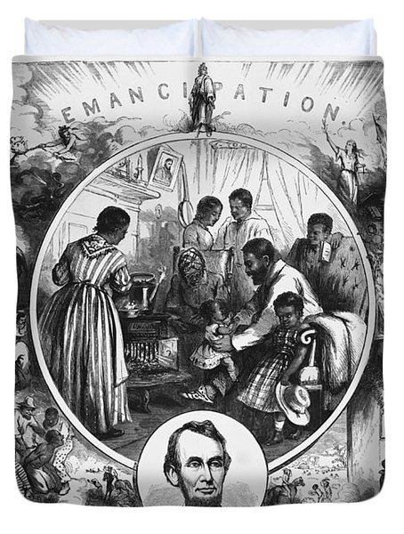 Effects Of Emancipation Proclamation Duvet Cover by Photo Researchers