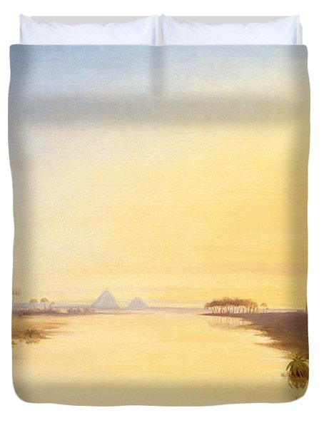 Egyptian Oasis Duvet Cover