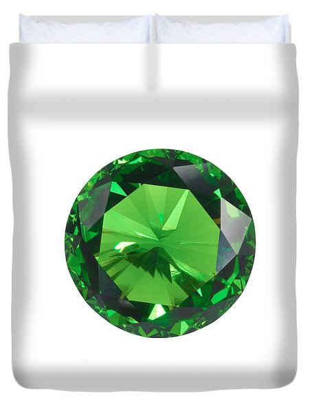 Emerald Isolated Duvet Cover by Atiketta Sangasaeng