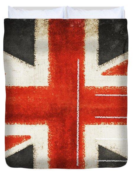 England Flag Postcard Duvet Cover by Setsiri Silapasuwanchai