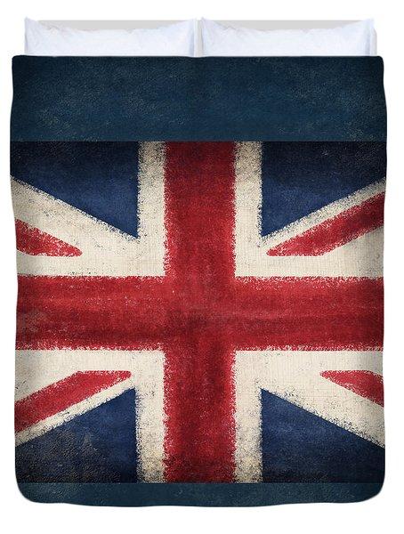 England Flag Duvet Cover by Setsiri Silapasuwanchai