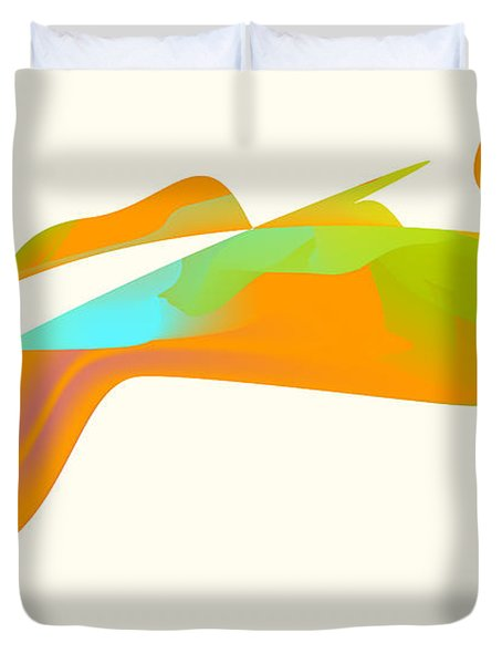 Duvet Cover featuring the digital art Falcon Pond by Kevin McLaughlin