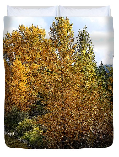 Fall Colors Duvet Cover by Steve McKinzie